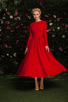 Платье «Аврора» миди красное — 27 990 рублей