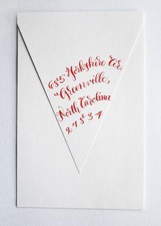 Custom Calligraphy Envelopes: Whimsical Style. $2.50, via Etsy.  By Meme Davis