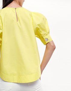 Camisa manga globo - Ropa | Stradivarius Costa Rica Zara Home, Costa Rica, Cold Shoulder Dress, Long Sleeve, Sleeves, Shirts, Clothes, Tops, Dresses