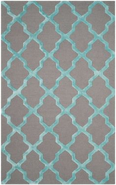 Darby Home Co® Parker Lane Hand-Tufted Gray/Turquoise Area Rug | Home & Garden, Rugs & Carpets, Area Rugs | eBay!