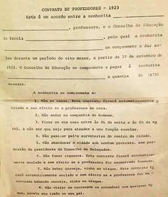 GERALDO PASSOFUNDO: Não deixe de ler, por preguiça, pois você vai perder algo sensacional: CONTRATO DE PROFESSORES, original, de 1923. kkkkkkKKKK.....