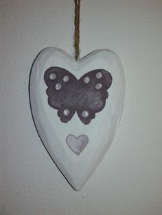 Painted wood heart