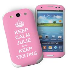 Personalised Pink Keep Calm Samsung Galaxy S3 Phone Skin  from Personalised Gifts Shop - ONLY £7.95
