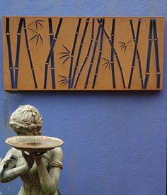 Bamboo Wall screen - corten steel