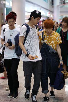 #kpop #exo #exok #exom #weareone #Luhan #lulu #xiaolu #Chanyeol #Xiumin #fantaken #fashion #airport
