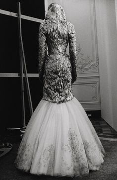 """The last piece of his final collection. """"Love Looks Not With the Eyes"""".  Alexander McQueen by Anne Deniau."""