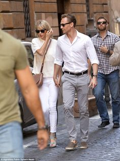 Tom Hiddleston and Taylor Swift prove inseparable as they lock hands during romantic stroll in Rome | Daily Mail Online