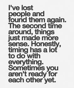 Sometimes You Are Not Ready - Beautiful Life Quote