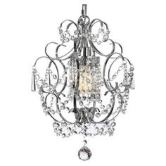 Harrison Lane Versailles 1 Light Crystal Chandelier Feature: Plug-in Kit Not Included