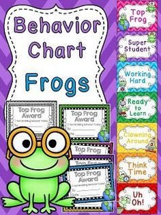 20 easy classroom management strategies you can start right away to help improve student behavior and build a strong, positive classroom com. Frog Theme Classroom, Classroom Charts, First Grade Classroom, Classroom Posters, Kindergarten Classroom, Classroom Decor, Classroom Behavior Chart, Preschool Behavior, Classroom Teacher