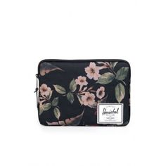 """Herschel Supply Anchor 13"""" Laptop Sleeve in Hawaiian Camo ($26) ❤ liked on Polyvore featuring accessories, tech accessories, camo laptop case, padded laptop case, macbook laptop case, camouflage laptop case and herschel supply co."""