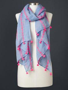 Trend Alert: Tassels - The Sensible Shopaholic Kurti Designs Party Wear, Kurta Designs, Embroidery Scarf, Scarf Design, Neck Design, Summer Scarves, Scarf Styles, Indian Wear, Casual Dresses