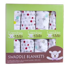 Amazon.com : 4 Pack Organic Muslin Baby Swaddle Blankets & Bonus eBook. Unisex 100% Breathable Cotton Receiving Blankets for Boys or Girls. The Best Baby Gift Blanket Set for Newborns and Infants. Cotton Swaddle Baby Blanket Set in Exclusive Design of Caterpillars & Dots with Red & Yellow Colors for Visual Development. : Nursery Swaddling Blankets : Baby