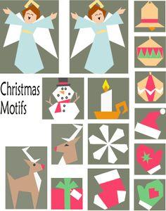 Last Minute Christmas Motifs Paper-Pieced Quilt Pattern at paperpanache.com