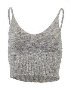 Knitted crop tank top Heather Gray / One Size, Top - Pinkracks, Pinkracks  - 1