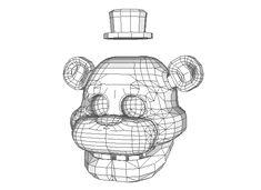 Five Nights at Freddy's - Freddy Fazbear Head Free Papercraft Download - http://www.papercraftsquare.com/five-nights-at-freddys-freddy-fazbear-head-free-papercraft-download.html#FiveNightsAtFreddyS, #FreddyFazbear, #Head