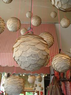 Whoa. It's like a Chinese paper lantern, but made of old paper.