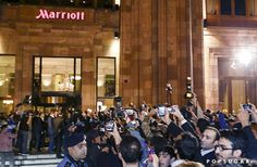Pin for Later: The Kardashians Cause Major Mayhem After Touching Down in Armenia  A large crowd gathered outside the family's hotel on Wednesday.