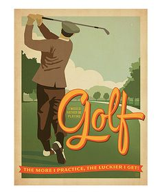 This 'Rather Be Playing Golf' Poster is perfect! #zulilyfinds