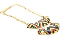 Collier ethnique Madurai, collier indien ethnique d'Inde. Ethnic indian necklace jewelry from India.