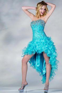 PRIMA C137693 Jeweled High Low Prom Dress