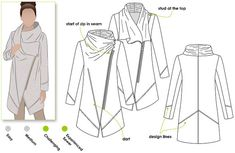 Genevieve Jacket / Coat // Sizes 10, 12 & 14 // Women's Jacket Coat  PDF sewing pattern by Style Arc // DIY clothing // Sewing Projects