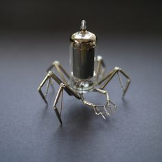 Chicago-based artist Justin Gershenson-Gates, aka A Mechanical Mind, creates tiny steampunk insects by carefully soldering together gears, springs, and other watch parts. The mechanical bugs, many of which Gershenson-Gates can balance on just his pinky finger, are miniature, multi-legged creatures that each take the artist several hours to complete. Like a robotic army of creepy …