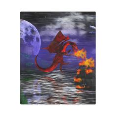 Dragon Attack Duvet Cover by Tracey Lee Art Designs Art Designs, Duvet Covers, Shops, Dragon, Community, Gift, Artist, Painting, Animals