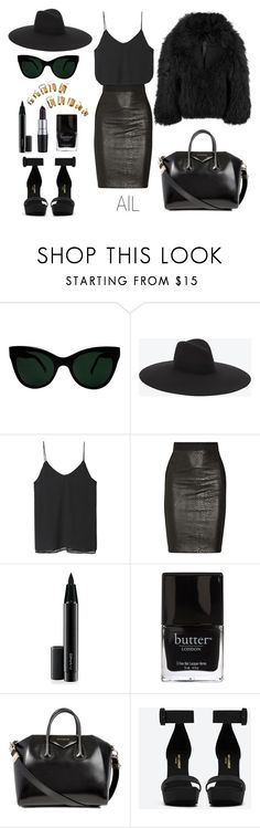 """black 2"" by annlazishvili ❤ liked on Polyvore featuring Diane Von Furstenberg, KamaliKulture, Yves Saint Laurent, Zara, M.A.C, Mason by Michelle Mason, MAC Cosmetics, Butter London, Givenchy and Balenciaga"