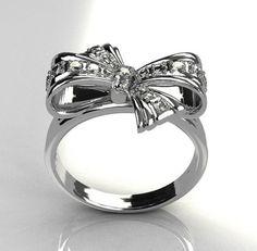 Tiffany's bow ring. Too cute!