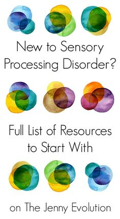 New to Sensory Processing Disorder - Full List of Resources to Start With