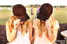 So obsessed with these puff embroidery hats | Zeta Tau Alpha | Made by University Tees | www.universitytees.com
