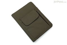 Lihit Lab Smart Fit Cover Notebook - A5 - Olive - LIHIT LAB N-1647-22