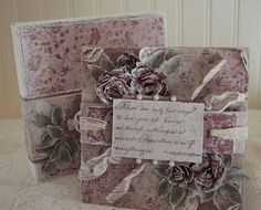 Tattered Treasures: Vintage Inspired Shabby Chic 'Miracles' Card with ...
