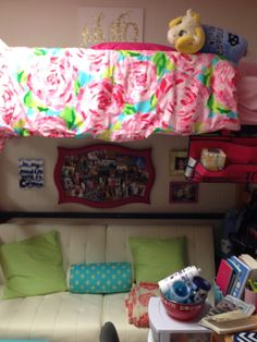 Daughter's dorm room #lillypulitzer