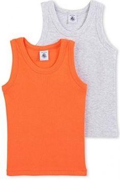 Jungen Tops & Shirts - Petit Bateau Jungen Unterhemd Lot 2p Debardeur