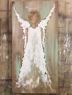 Christmas Angels, Christmas Art, Christmas Decorations, Angel Crafts, Angel Pictures, Diy Canvas Art, Christmas Paintings, Angel Art, Pictures To Paint