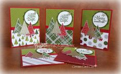 Lots of Joy and Festival of Trees stamp sets from Stampin Up! - Christmas cards