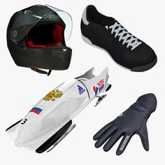 Bobsled 2 Places Equipment 3D Ma - 3D Model