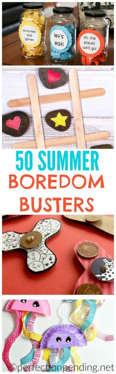 50 Summer Activities for Kids, ultimate list of summer boredom busters for Inside activities, outside activities, DIY summer crafts, learning activities & travel activities (Cool Crafts For Kids) Summer Fun For Kids, Summer Activities For Kids, Summer Diy, Summer Crafts, Fun Activities, Travel Activities, Summer Ideas, Beach Crafts, Projects For Kids