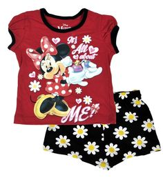 Minnie Mouse All About Me Toddler Girls 2Pc Shorts Set