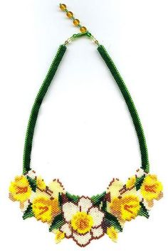 Daffodil Beaded Necklace | Flickr - Photo Sharing!