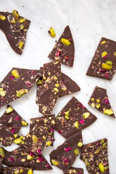 This Pistachio Rose Chocolate Bark is the ultimate grown-up Halloween treat, with sophisticated, decadent flavors - and tons of health benefits to boot