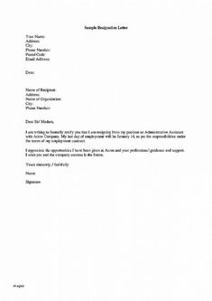 Marvelous Letter Resignation Example Letter Of Resignation Example Aexandra Park