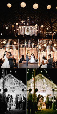 outdoor.  Casual Vintage Wedding at a Rustic Barn Venue | OneWed