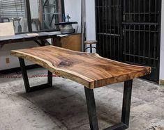 Farmhouse Table Rustic Farm Table Farmhouse Dining Table | Etsy Dining Table With Bench, Bar Height Table, Slab Table, Trestle Table, Bench Legs, Desk Legs, Steel Table Legs, Coffee Table Legs, Table Frame