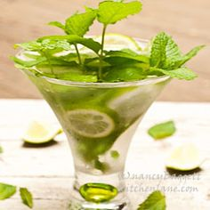 Mojitos at their zesty best--good rum, zippy mint, fresh limes!
