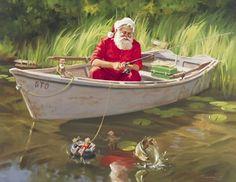 Summer Santa Gone Fishing...Love this! ~Tom Browning