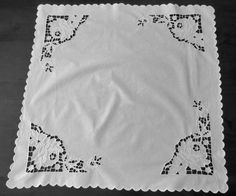 Cutwork Supper Cloth by LouisaAmeliaJane on Etsy, $20.00
