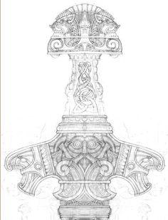 Эскиз рукояти меча Вепрь / Sketch the hilt of the Sword Boar